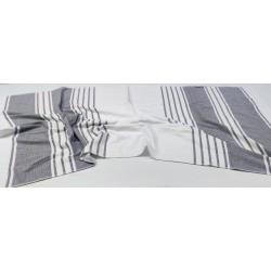 Peştemal Havlu - 650 gr/adet - 100 x 190 cm - Beyaz/Lacivert